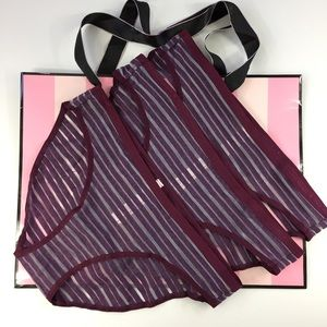 Victoria's Secret Bikini's Set Of 3 Maroon Panties